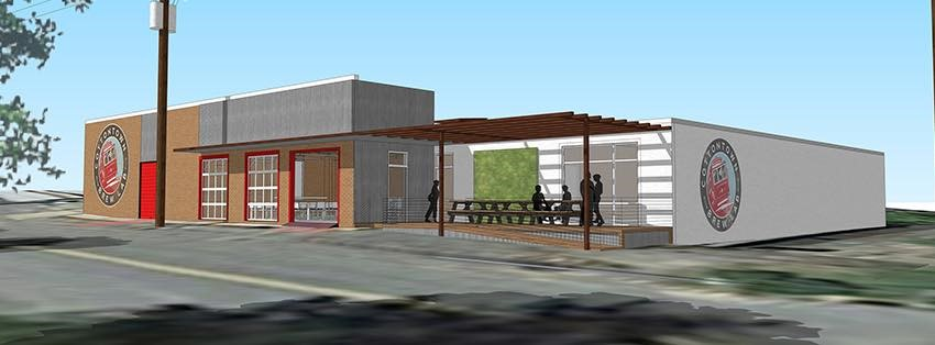 A rendering of the plans for Cottontown Brew Pub.