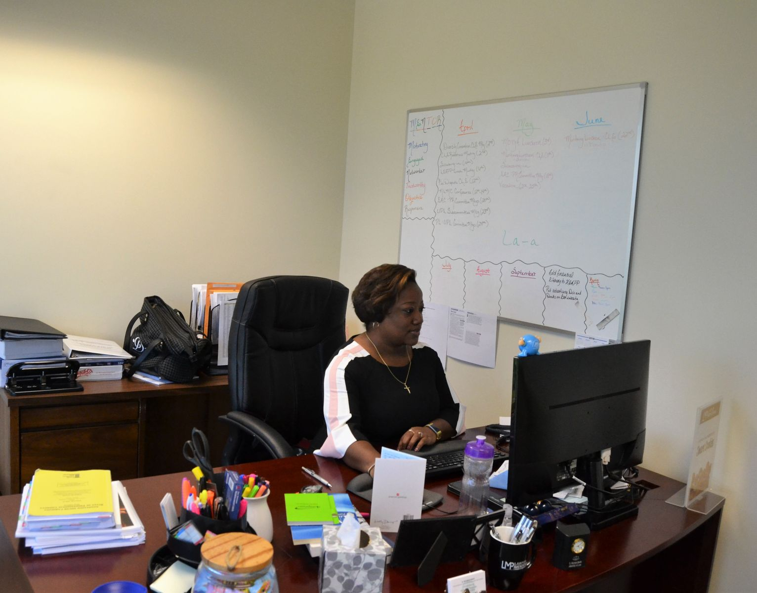 D. Nichole Davis has a packed schedule as the risk management director at the South Carolina Bar. (Photo/Melinda Waldrop)
