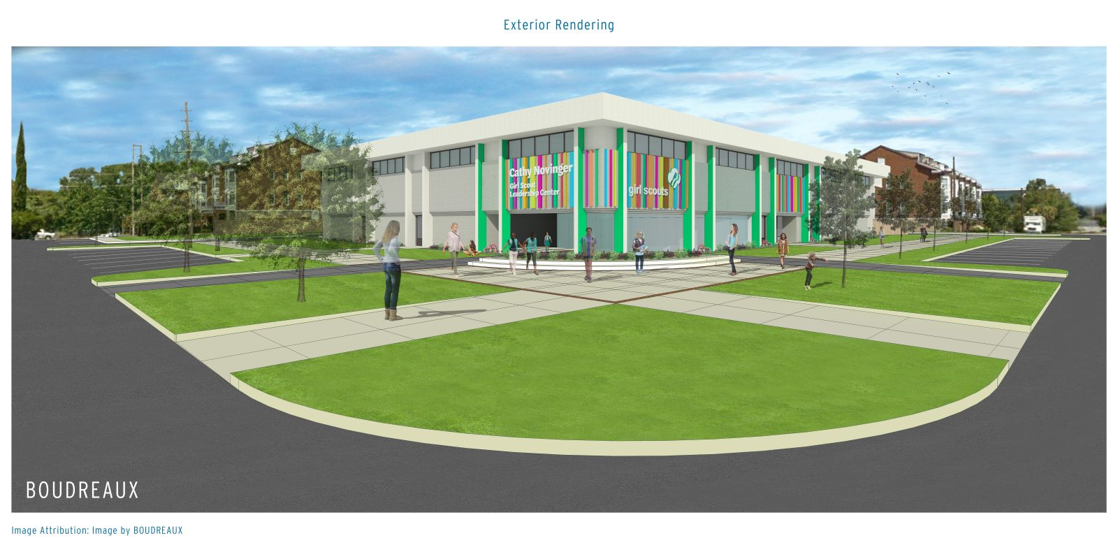 The Cathy Novinger Girl Scout Leadership Center is set to open in mid-2019. (Rendering/Provided)