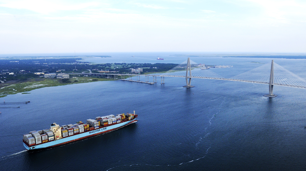 A federal allocation of $49 million enables work to continue on the Charleston Harbor deepening project. (Photo/S.C. Ports Authority)