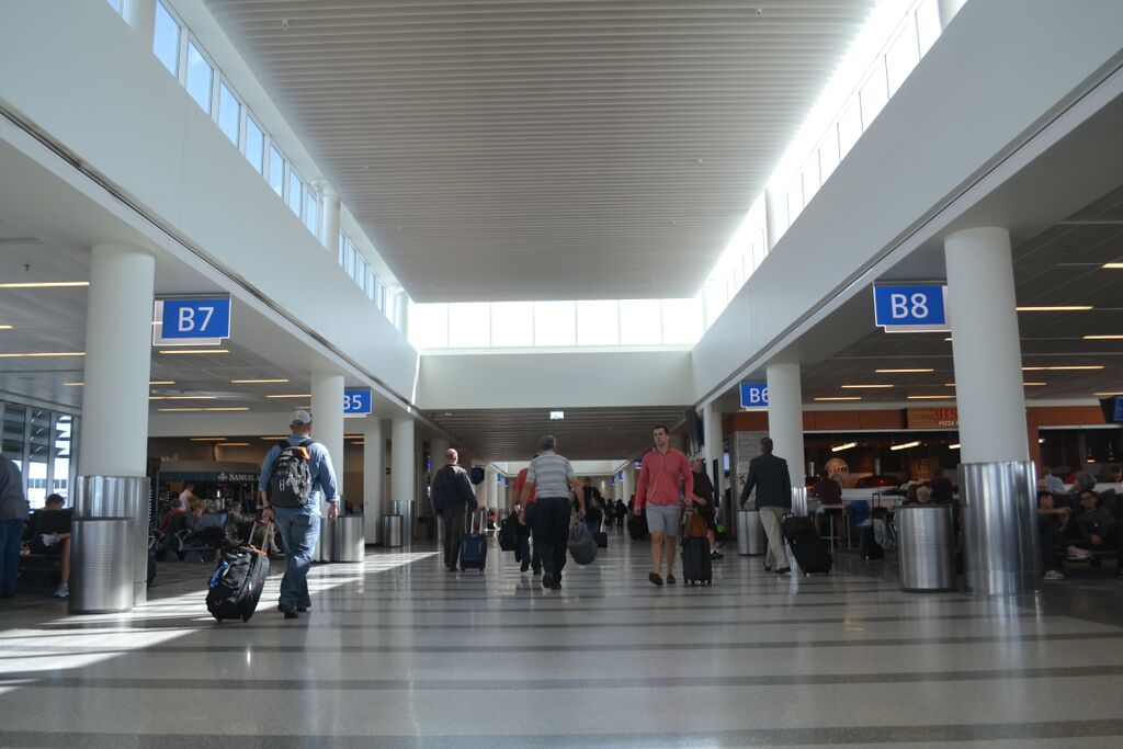 More than 3.7 million travelers passed through Charleston International Airport's newly redone terminal last year. (Photo/Liz Segrist)