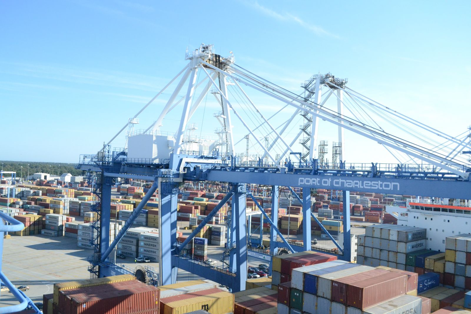 The Port of Charleston reported a record 105,000 pier containers handled in January. (Photo/File)