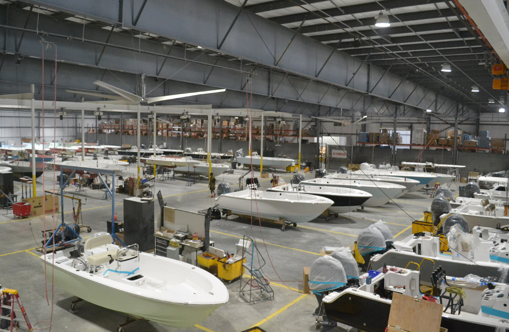 Sportsman Boats plans to add 70,000 square feet to its existing manufacturing space at 113 Isaac Way in Summerville. (Photo/Liz Segrist)