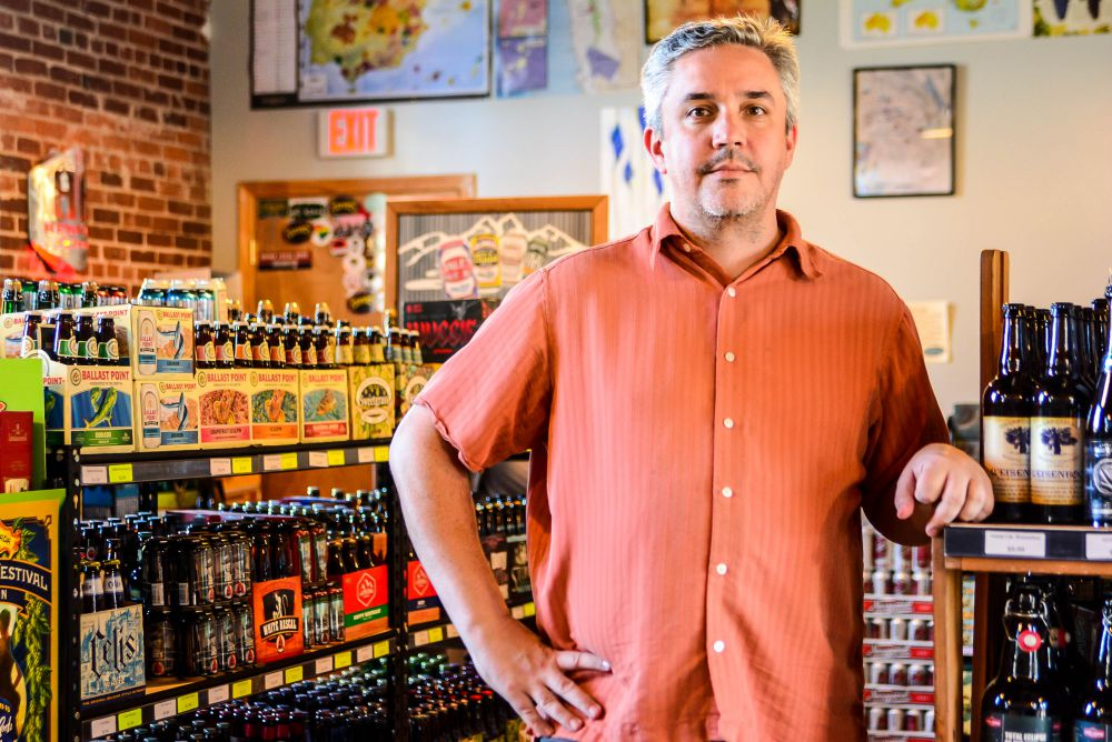 Doug Aylard opened Vino Garage in Cottontown in 2012. The wine shop is moving to a bigger location.