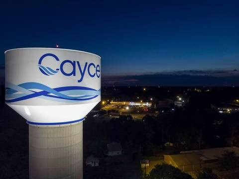 The city of Cayce's new water tank has won a national award. (Photo/Provided)