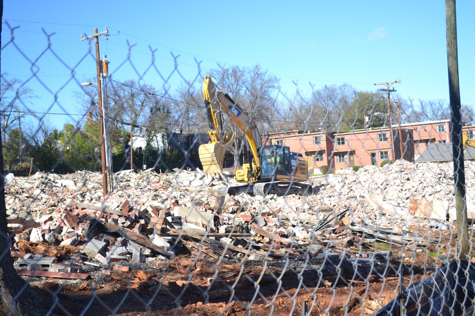 Oakview Apartments are being torn down and a community center is planned for the location in the Northside community of Spartanburg. (Photo/Teresa Cutlip)